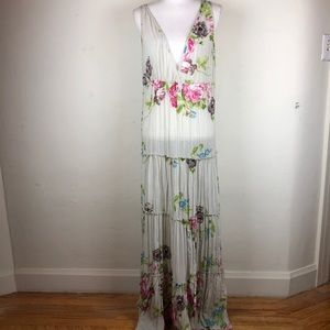 Free People Tiered Ruffle Floral Boho Maxi Dress S